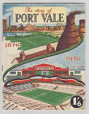Port Vale Fc The Story Of 1950 Orig Brochure Opening Of Vale Park Good Condition