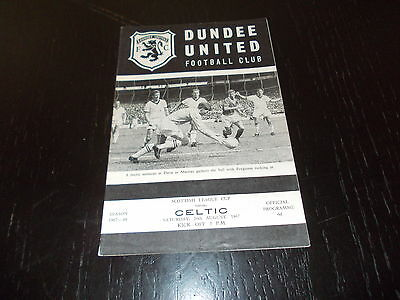 Dundee United v Celtic  26th Aug 1967  Scottish League Cup