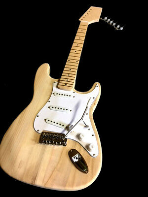New  6 String Maple Neck St-Caster Style Electric Guitar Builder Trem Kit