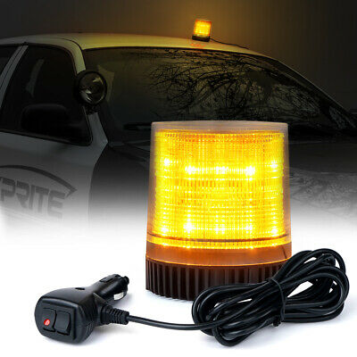 Rooftop LED Round Rotating Beacon  Emergency Flash Strobe Warning Light Amber