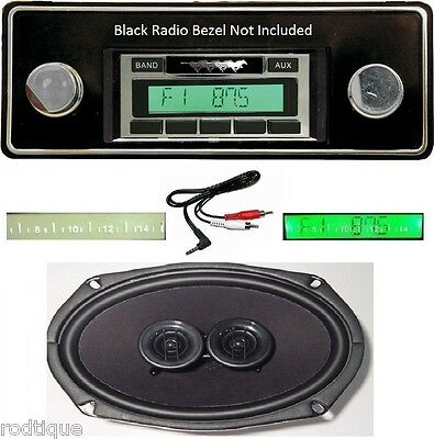 1974-1978 Ford Mustang Radio + DVC Dash Speaker iPod Dock USB Aux 630 II **