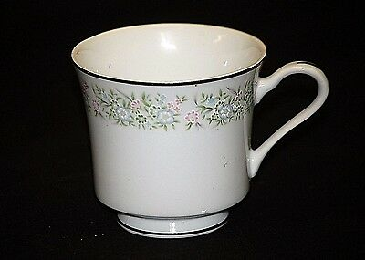 """Old Vintage Springtime by Taihei 3"""" Footed Cup Pink & Blue Flowers Japan"""