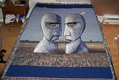 NEW Vintage PINK FLOYD THE DIVISION BELL Woven Throw Blanket Rug Tapestry Afghan