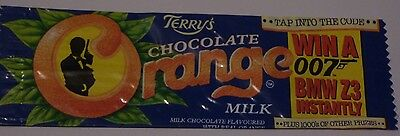 JAMES BOND Goldeneye BMW PROMO Terry's Chocolate Orange wrapper Milk Brosnan