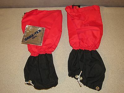 New LL BEAN GoreTex WATERPROOF Gaiters Shin Chaps Made in the USA M/L