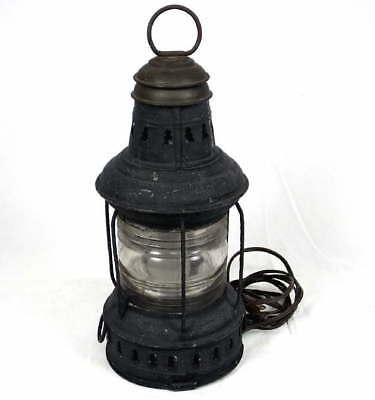 Antique Perko Nautical Marine Ship Boat Lantern Lamp Light Electrified Electric