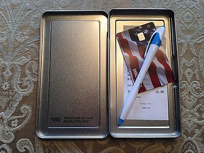 25 American Express Silver Metal Tip Trays Check Presenters  FREE SHIPPING!!