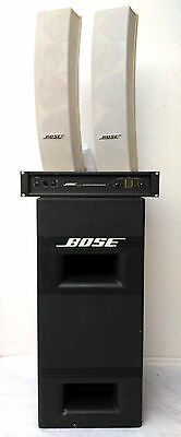 BOSE PANARAY System 502A PA Speakers 1600 VI Amplifier 502B EQ Controller Card 2