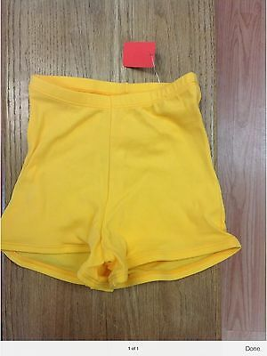 body wrappers gold cheer shorts size Extra Large Adult 5 Pair
