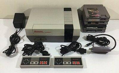 Nintendo NES Console Bundle Hookups + 2 Controllers + 6 Games NEW 72 PIN