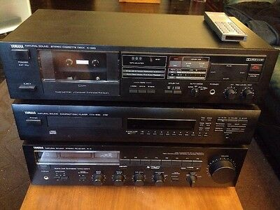 Yamaha Natural Sound Reciever, CD, And Tape Deck (with Control Transmitter CD)