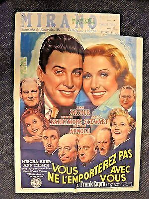 You Can't Take It With You  Frank Capra   Original!!!   Belgian  Poster