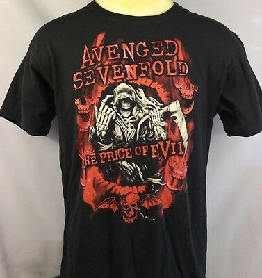 AVENGED SEVENFOLD / The Price of Heaven - 2011 Official Tour T-Shirt - XL GUC