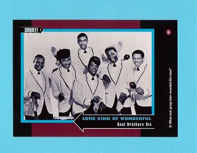 Soul Brothers Six Soul Music Collector Card  Have a Look!