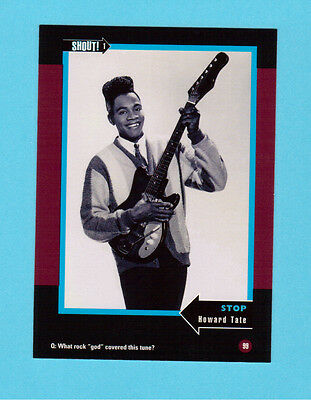 Howard Tate  Soul Music Collector Card  Have a Look!