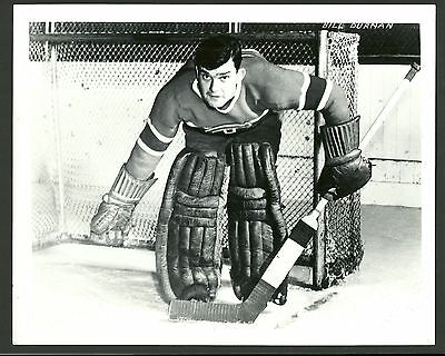 Bill Durnan Goalie Montreal Canadiens 1960s Vintage Hockey Press Photo