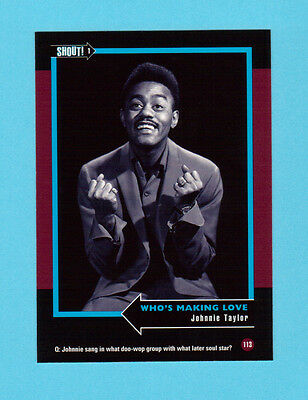 Johnnie Taylor  Soul Music Collector Card  Have a Look!