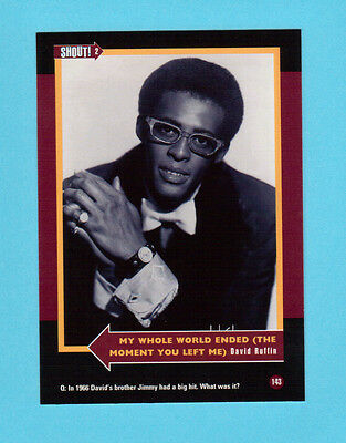 David Ruffin  Soul Music Collector Card  Have a Look!
