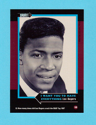 Lee Rogers Soul Music Collector Card  Have a Look!