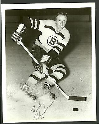Nick Mickoski Boston Bruins Vintage 8 x 10 Hockey Press Photo