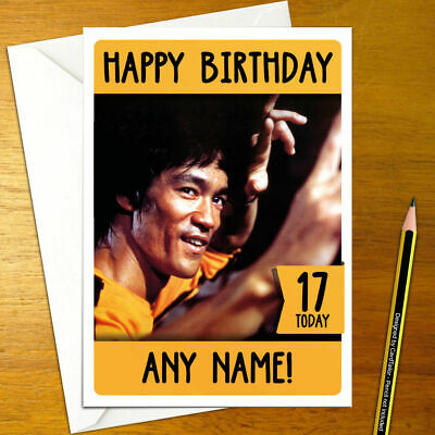 BRUCE LEE PERSONALISED Birthday Card - A5 enter the dragon wing chun jeet  kune