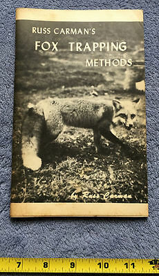 Russ Carman Fox Trapping Methods, 1971, Rare Vintage Hunting Book Booklet