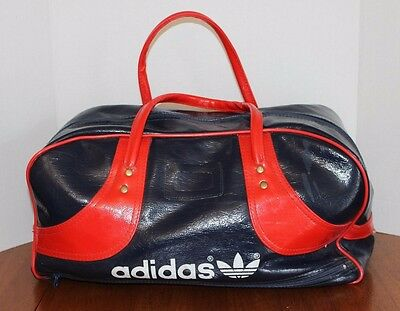 Authentic Classic Vintage Adidas Weekender Gym Bag Gloss Blue Red