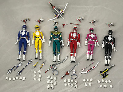 Mighty Morphin Power Rangers sh figuarts Bandai SET of 6 W/ Boxes No Trays
