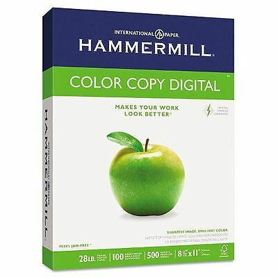 Hammermill - 100 Brightness, 28lb, 8 1/2 x 11 Photo White - 500