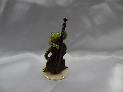 Hagen Renaker Bass Player Frog 3182 Figurine Miniature FREE SHIPPING NEW