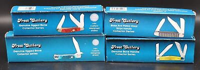 lot of 4 Collectors Series Knives-Frost Cutlery Folding Pocket Knife (2635) $70