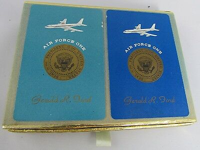 Rare President Ford Double Deck of Air Force One Playing Cards Gerald R Ford