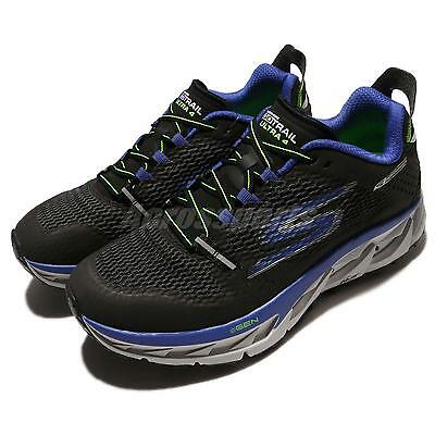 Skechers Go Trail Ultra 4 Black Blue Men Outdoors Running Shoes 54111-BKBL