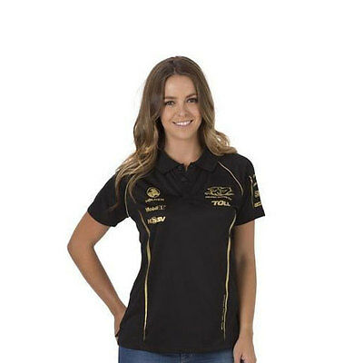 Holden Racing Team Hrt Ladies Team Polo Top Black Sizes 8 10 16 & 18
