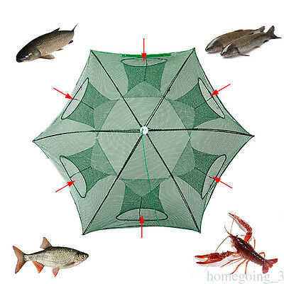Foldable Crab Net Trap Cast Dip Cage Fishing Bait Fish Minnow Shrimp Craw fish