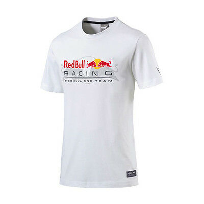 Red Bull Racing Mens Lifestyle Logo T-Shirt White Formula 1 Size M & Xl Only