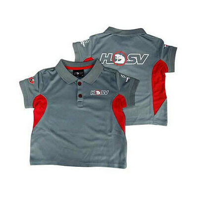 Holden Special Vehicles Hsv Kids Childrens Team Polo Charcoal Sizes 6 8 10 12