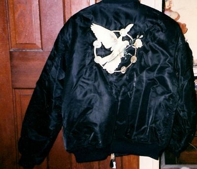 Rare Stevie Nicks Enchanted Winter Flight Jacket Size XL