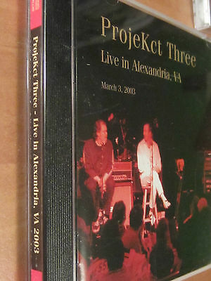 KING CRIMSON ProjeKCt THREE Live Alexandria VA March 2003 CD 34 Collector's Club