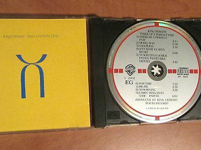 KING CRIMSON Original CD 1st pressing THREE OF A PERFECT PAIR Bill Bruford 1984