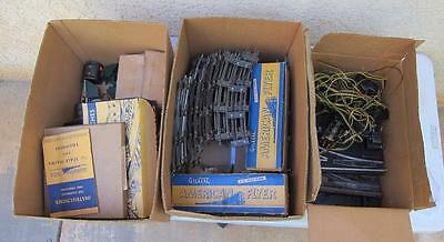Large lot of American Flyer Tracks, Switches, Clips, Cars, Instructions & More l