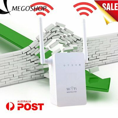300Mbps Wireless Repeater Network Router WiFi Range Extender Booster LOT 5. AU