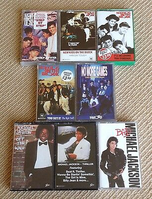 Michael Jackson / New Kids On The Block Cassettes - Vintage