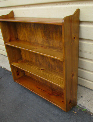54832 Solid Pine Country Whatnot Bookcase Bookshelf Wall Mount Shelf