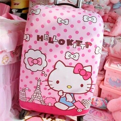 """Hello Kitty Pink Dot Suitcase Cover Trolley Bag Luggage Protector 24-26"""" KK889"""