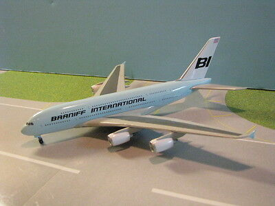 "Jet-X (Jxm129) Braniff International ""lt. Blue"" A380 1:400 Scale Diecast Model"