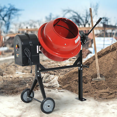 Portable 3.5 Cubic Ft. Electric Cement Mixer Barrow Machine Mixing Mortar 1/2HP