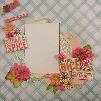 handmade scrapbook page 12 X 12 Sugar And Spice Themed Layout