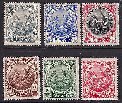 Barbados 1916/18 collection of 6 mint hinged