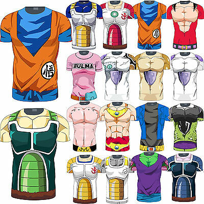 Men Dragon Ball Z Compression T-Shirt Goku DBZ Sports Tops Cosplay Costume Tee
